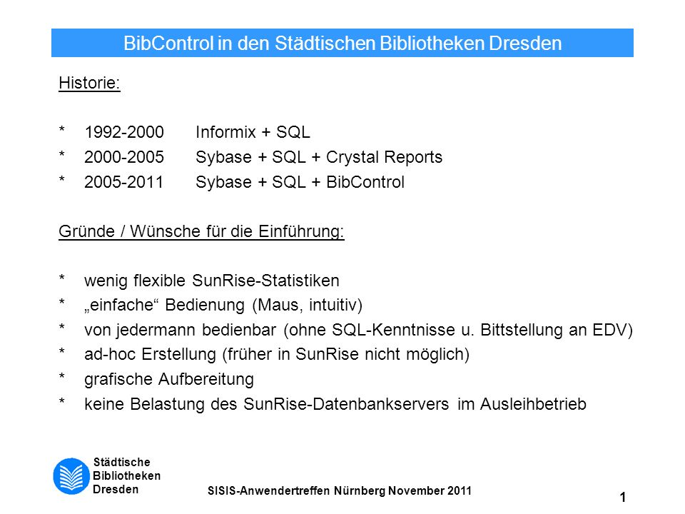 BibControl in den Städtischen Bibliotheken Dresden