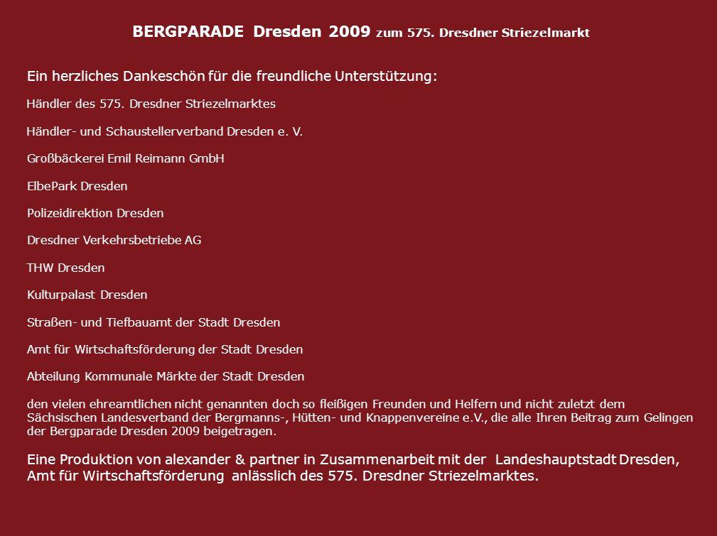 BERGPARADE Dresden 2009 zum 575. Dresdner Striezelmarkt