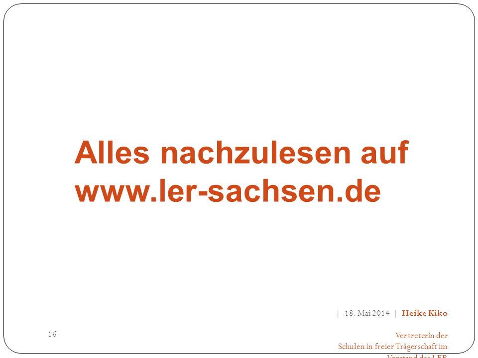 Alles nachzulesen auf www.ler-sachsen.de