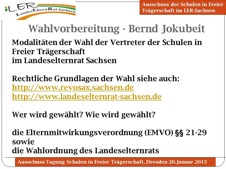 Wahlvorbereitung - Bernd Jokubeit