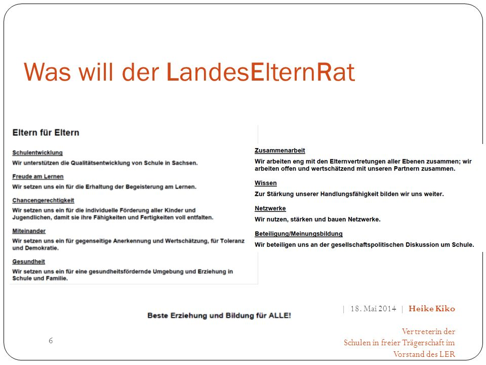 Was will der LandesElternRat