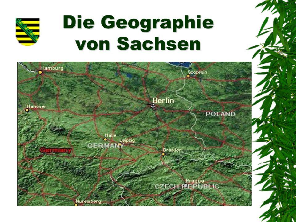 Die Geographie von Sachsen