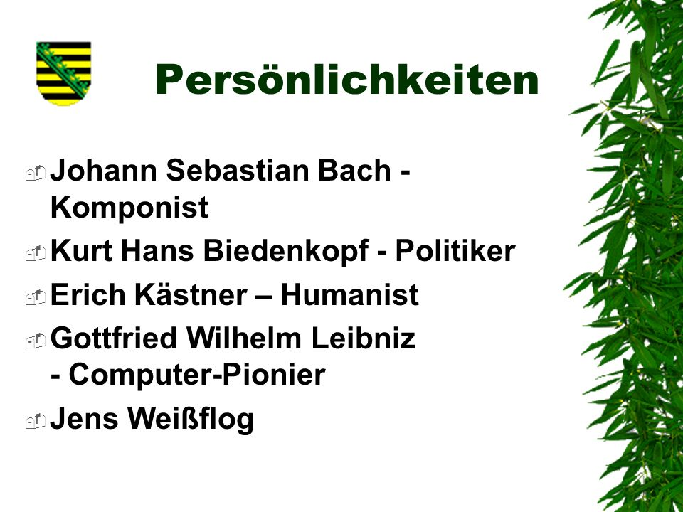 Persönlichkeiten Johann Sebastian Bach - Komponist