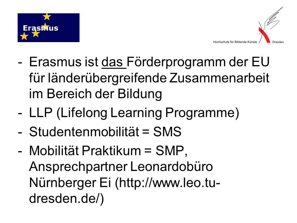 Erasmus ist das Förderprogramm der EU für länderübergreifende Zusammenarbeit im Bereich der Bildung