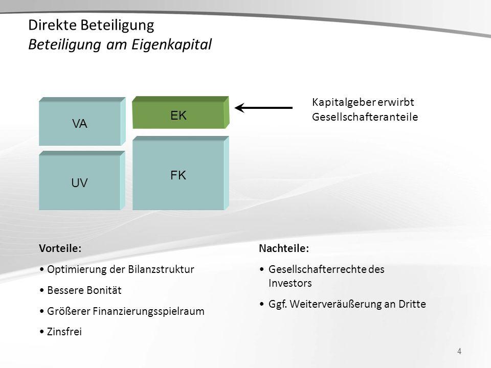Direkte Beteiligung Beteiligung am Eigenkapital
