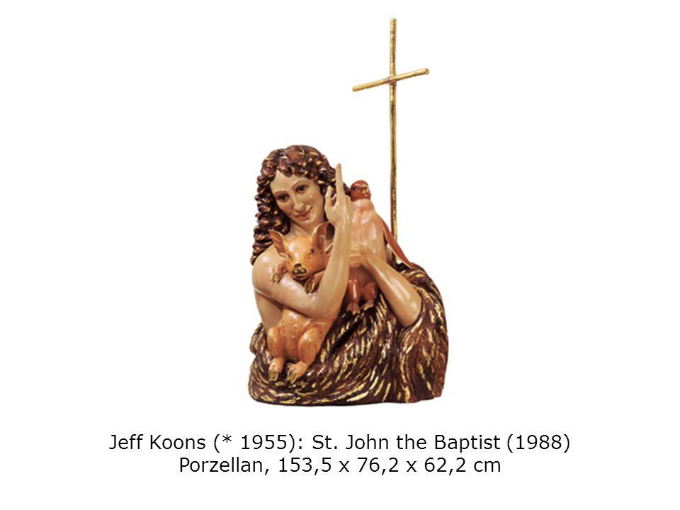 Jeff Koons (* 1955): St. John the Baptist (1988) Porzellan, 153,5 x 76,2 x 62,2 cm