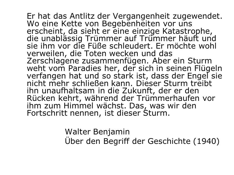 Über den Begriff der Geschichte (1940)