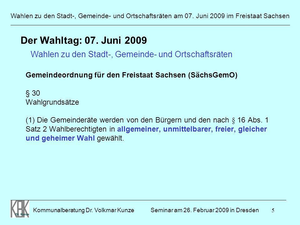 Wahlen zu den Stadt-, Gemeinde- und Ortschaftsräten am 07