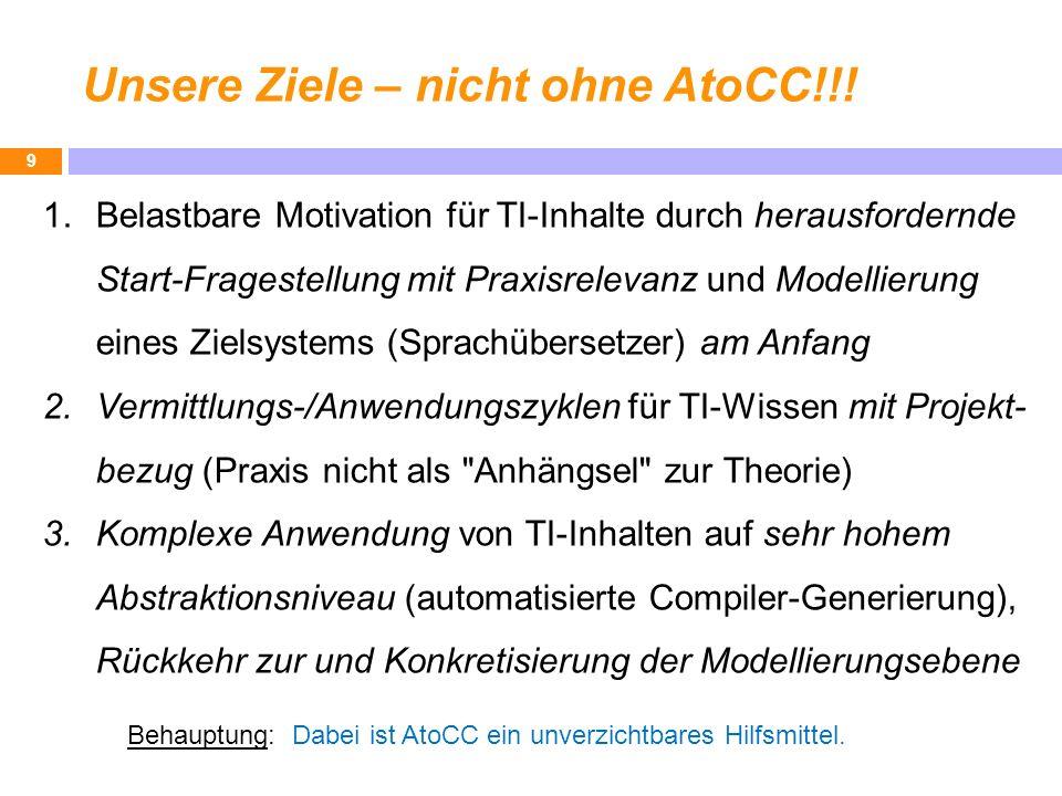 Unsere Ziele – nicht ohne AtoCC!!!