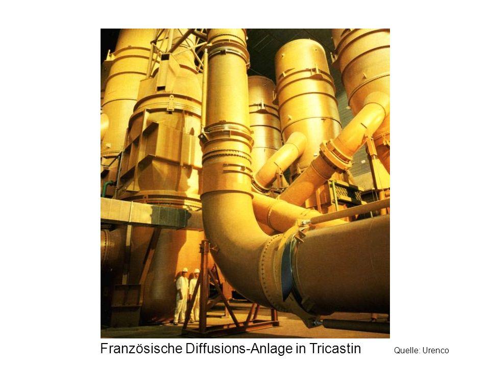 Französische Diffusions-Anlage in Tricastin Quelle: Urenco