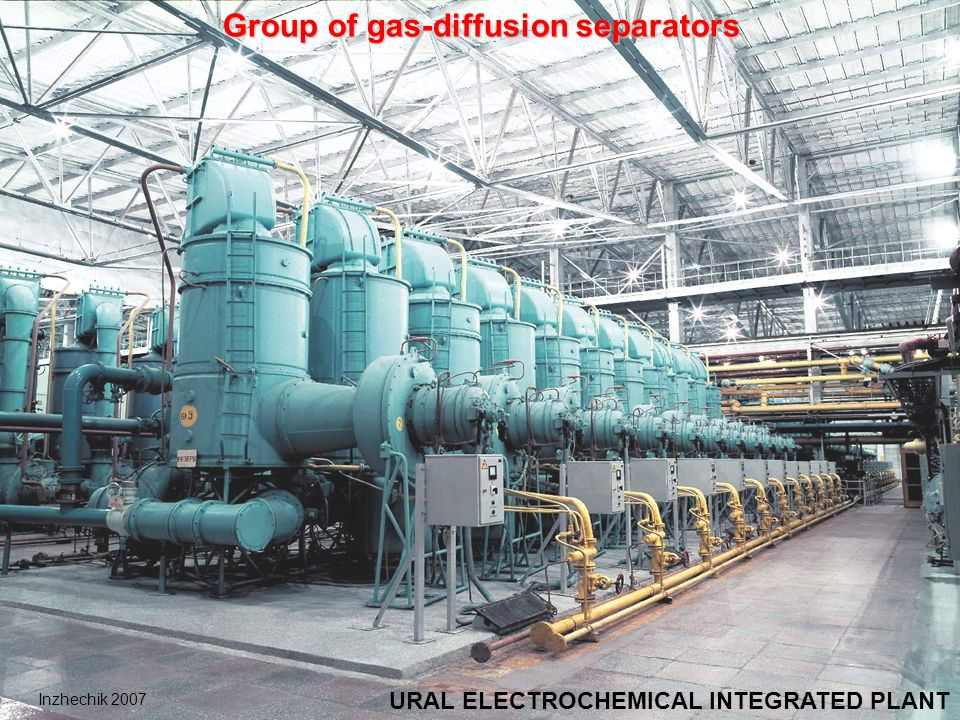 Group of gas-diffusion separators