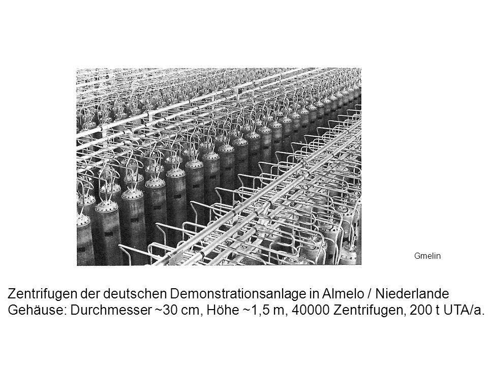 Zentrifugen der deutschen Demonstrationsanlage in Almelo / Niederlande