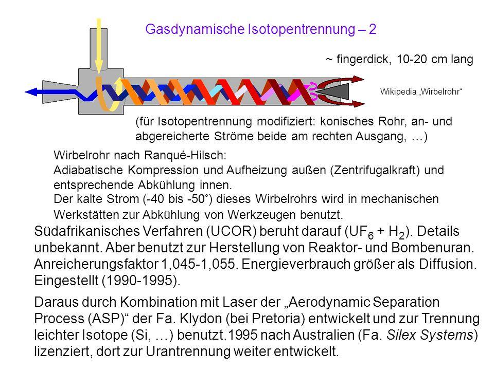 Gasdynamische Isotopentrennung – 2