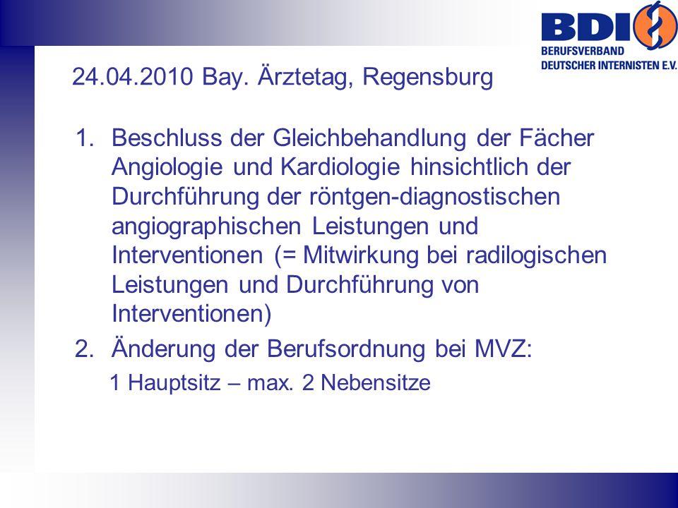 24.04.2010 Bay. Ärztetag, Regensburg