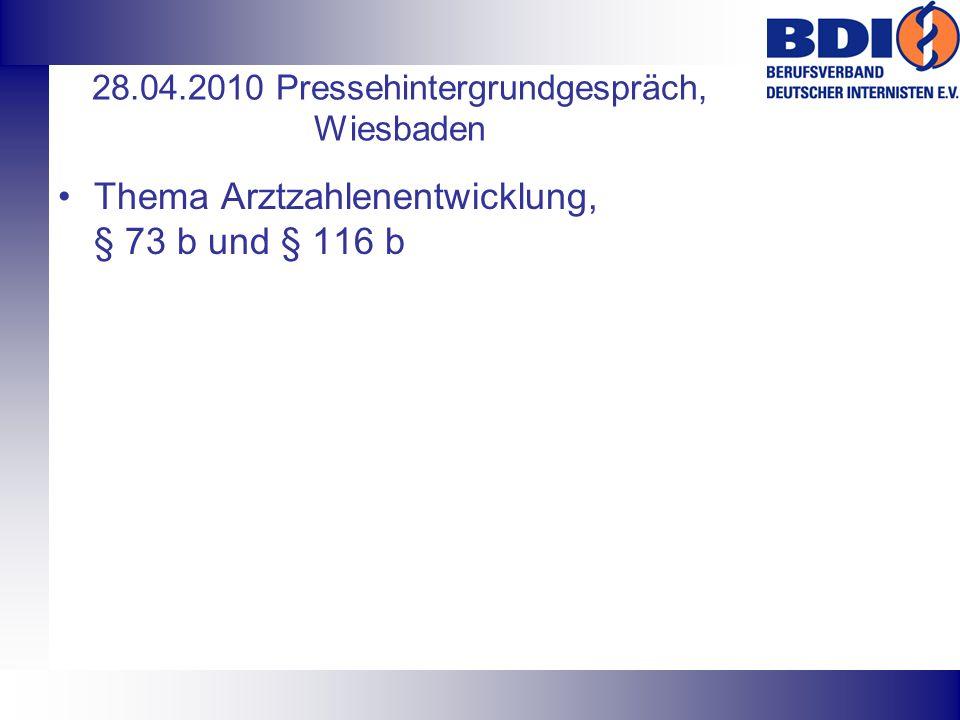28.04.2010 Pressehintergrundgespräch, Wiesbaden
