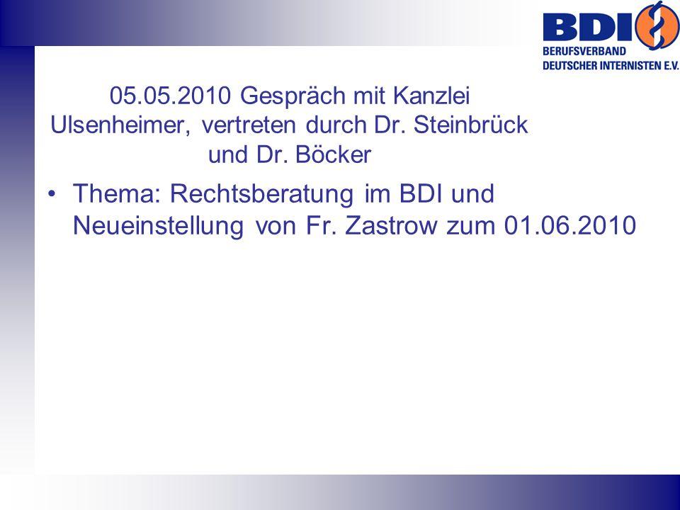 05. 05. 2010 Gespräch mit Kanzlei Ulsenheimer, vertreten durch Dr