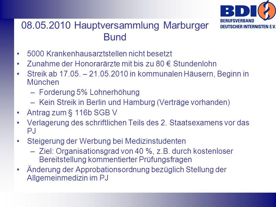 08.05.2010 Hauptversammlung Marburger Bund