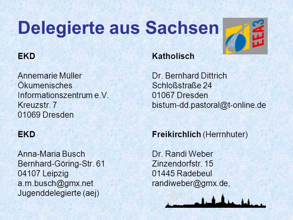 Delegierte aus Sachsen