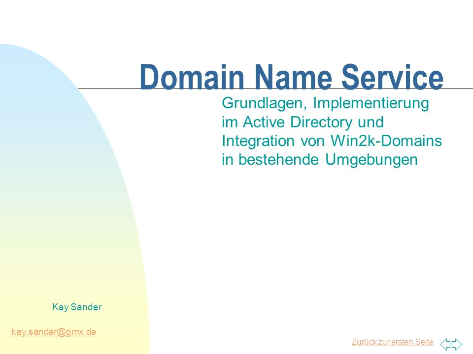 directory domain dienst