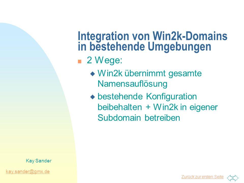 Integration von Win2k-Domains in bestehende Umgebungen