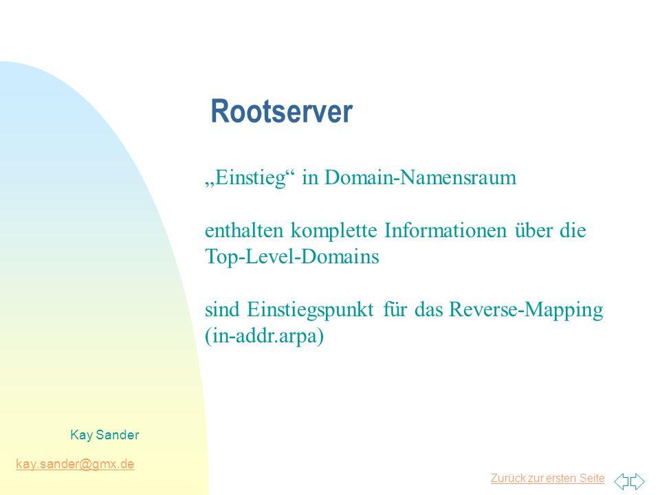"""Rootserver """"Einstieg in Domain-Namensraum"""