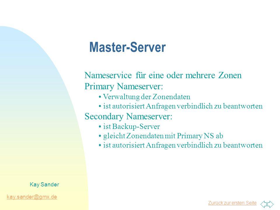 Master-Server Nameservice für eine oder mehrere Zonen