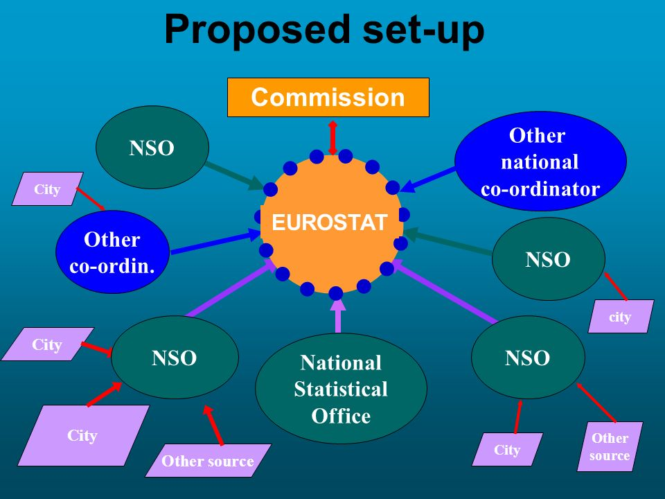 Proposed set-up Commission Other national NSO co-ordinator EUROSTAT