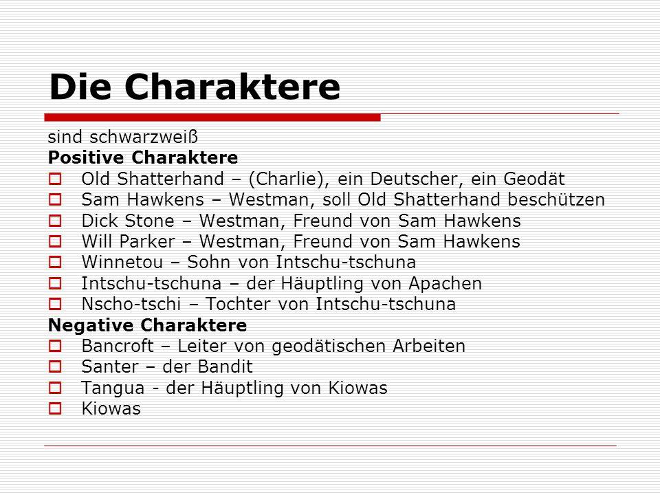 Die Charaktere sind schwarzweiß Positive Charaktere