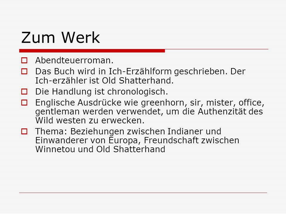 Zum Werk Abendteuerroman.