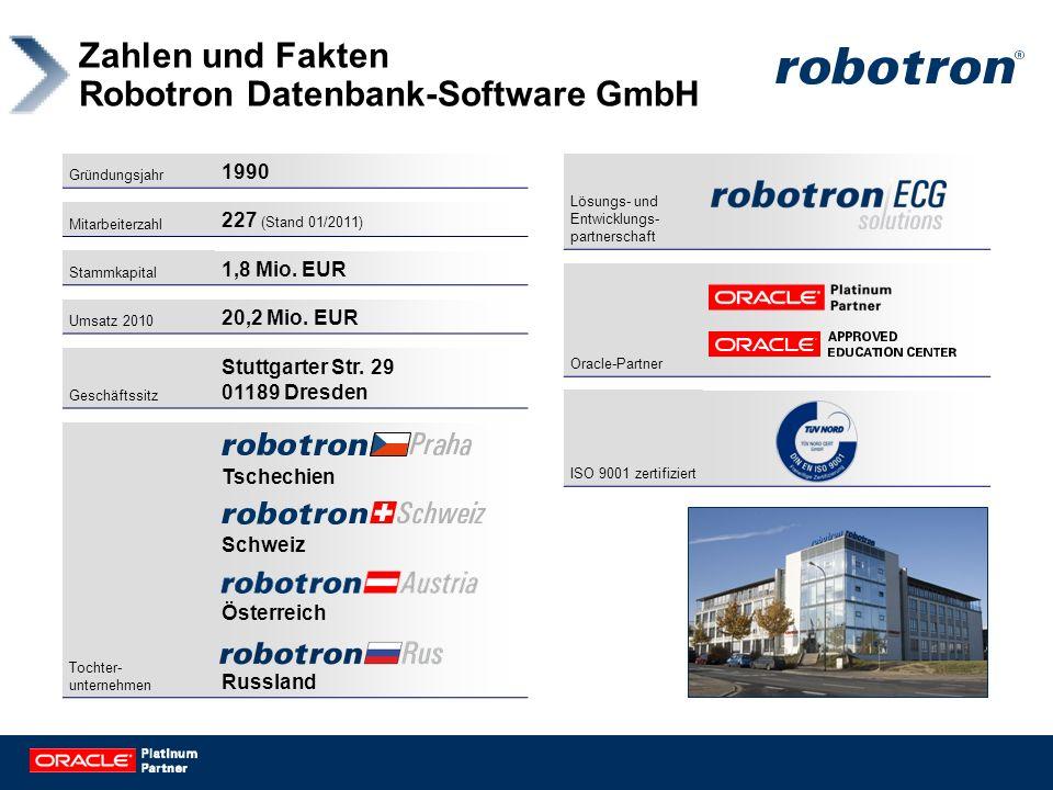 Zahlen und Fakten Robotron Datenbank-Software GmbH