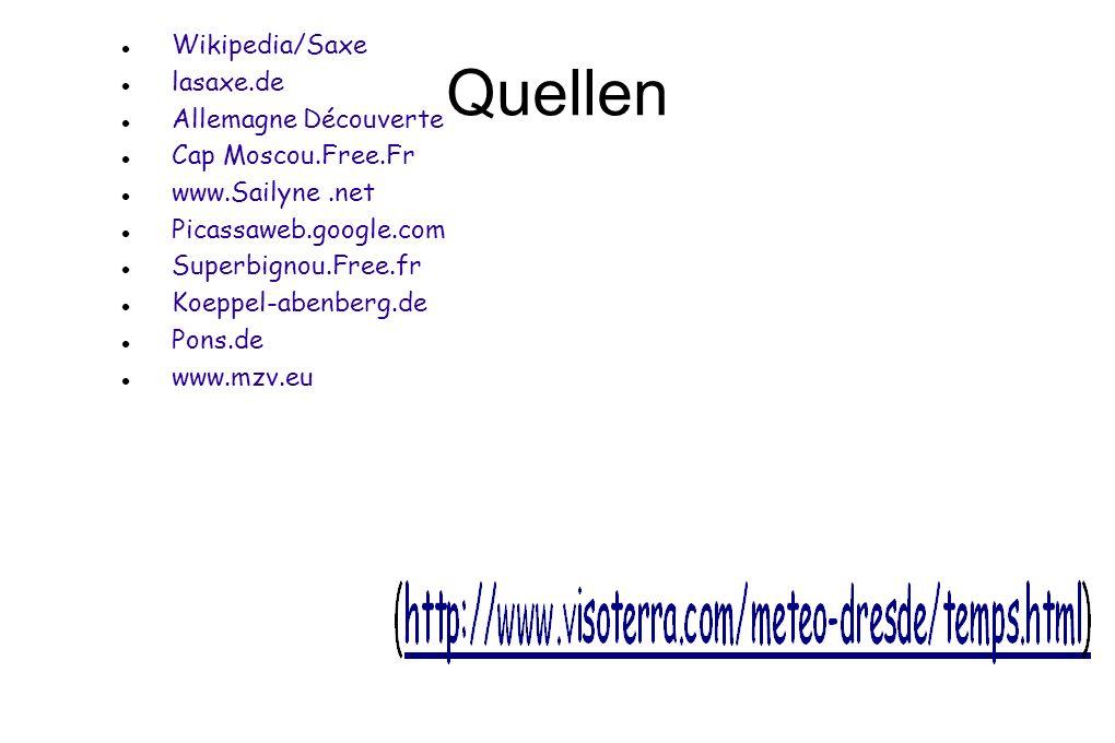 Quellen Wikipedia/Saxe lasaxe.de Allemagne Découverte