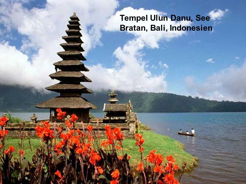 Tempel Ulun Danu, See Bratan, Bali, Indonesien