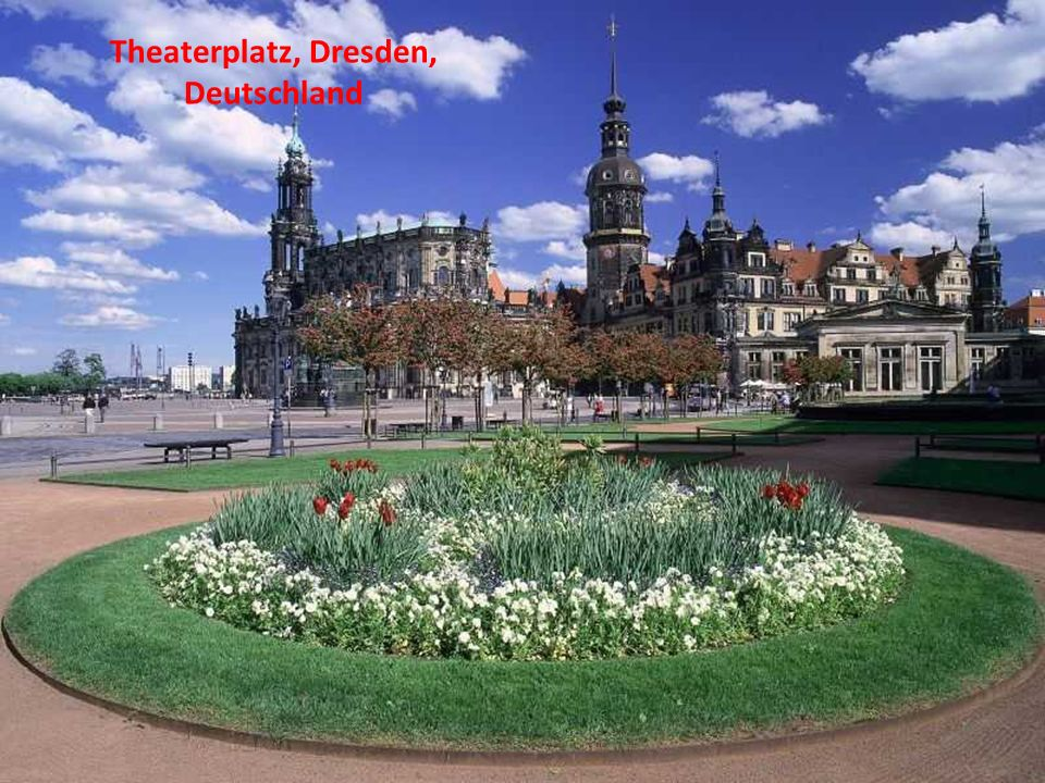 Theaterplatz, Dresden, Deutschland