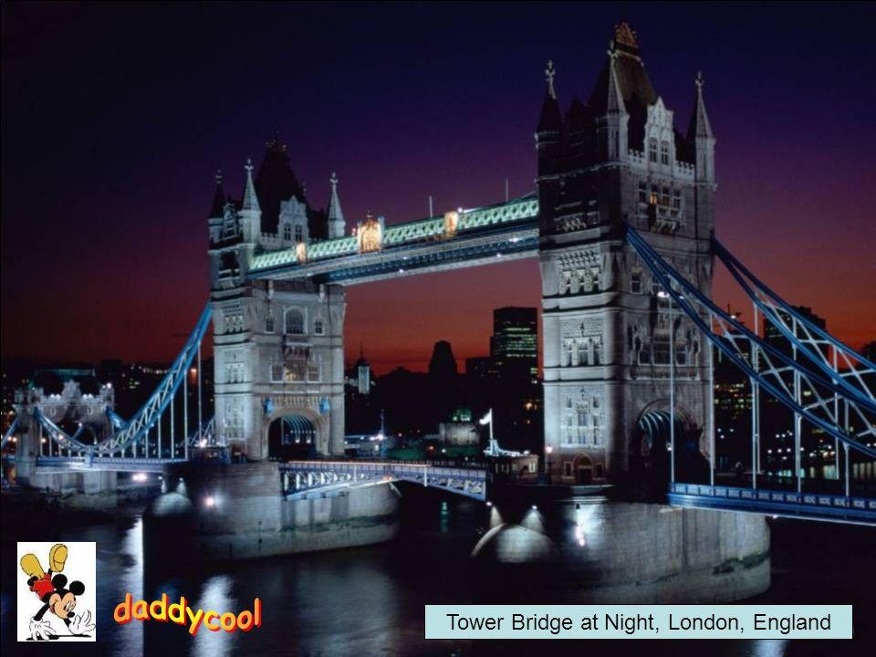 Tower Bridge at Night, London, England