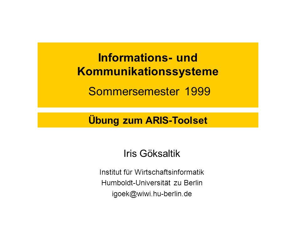 Informations- und Kommunikationssysteme Sommersemester 1999