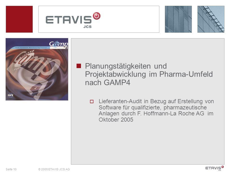 Planungstätigkeiten und Projektabwicklung im Pharma-Umfeld nach GAMP4