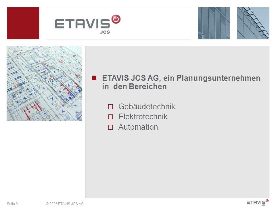 ETAVIS JCS AG, ein Planungsunternehmen in den Bereichen