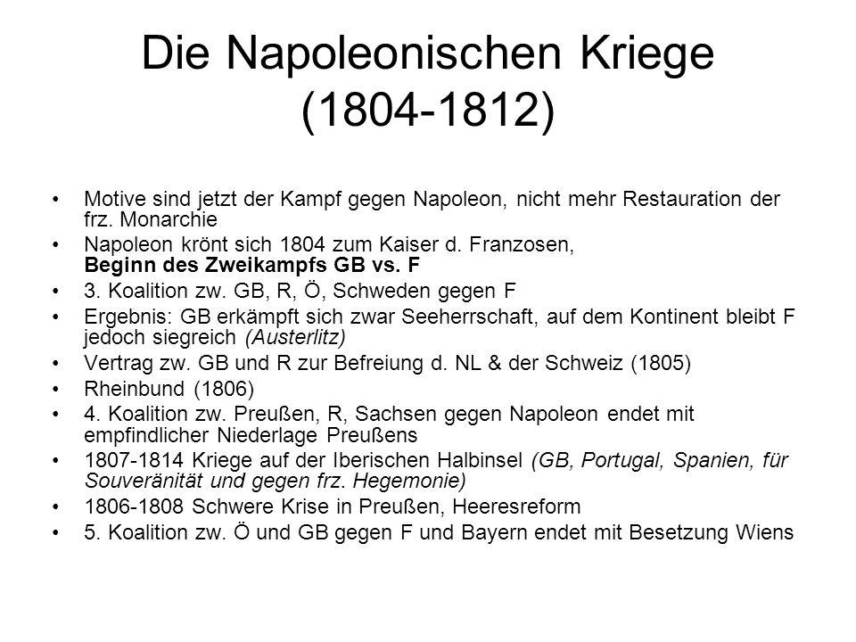 Die Napoleonischen Kriege (1804-1812)
