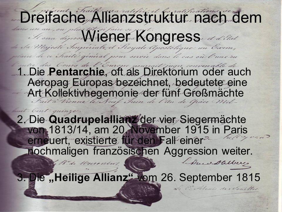 Dreifache Allianzstruktur nach dem Wiener Kongress