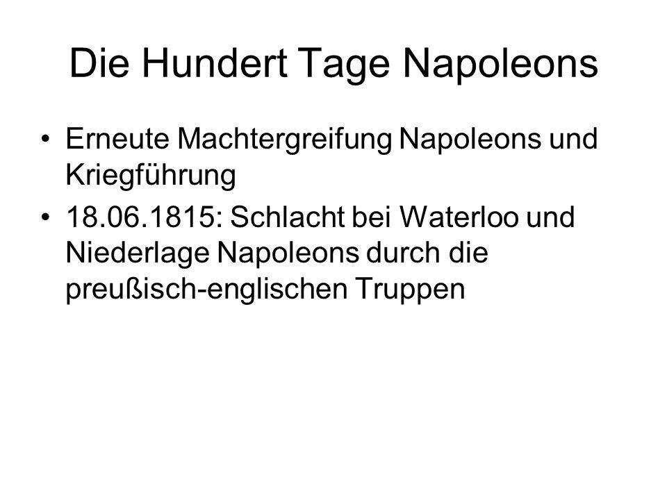 Die Hundert Tage Napoleons