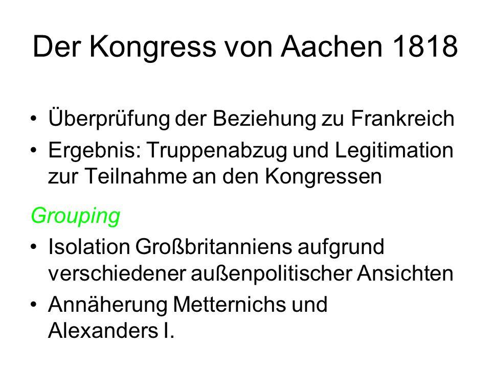 Der Kongress von Aachen 1818