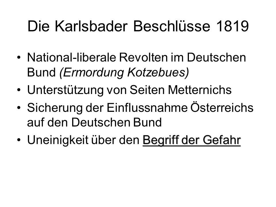 Die Karlsbader Beschlüsse 1819