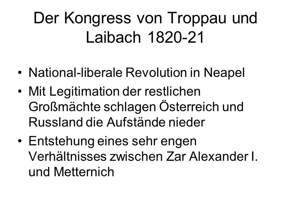 Der Kongress von Troppau und Laibach 1820-21