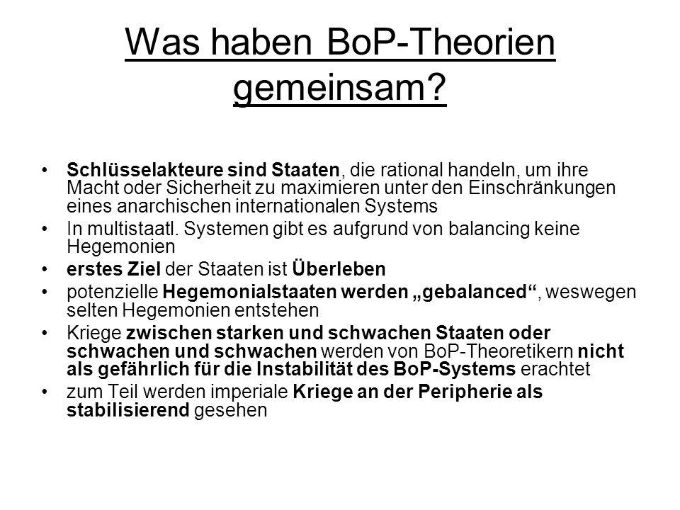Was haben BoP-Theorien gemeinsam