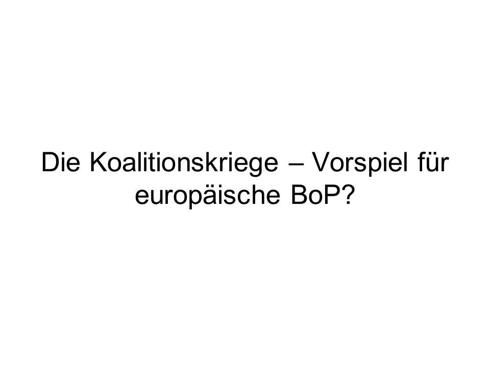 Die Koalitionskriege – Vorspiel für europäische BoP