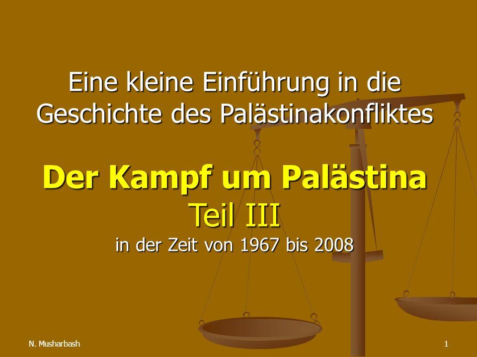 Eine kleine Einführung in die Geschichte des Palästinakonfliktes