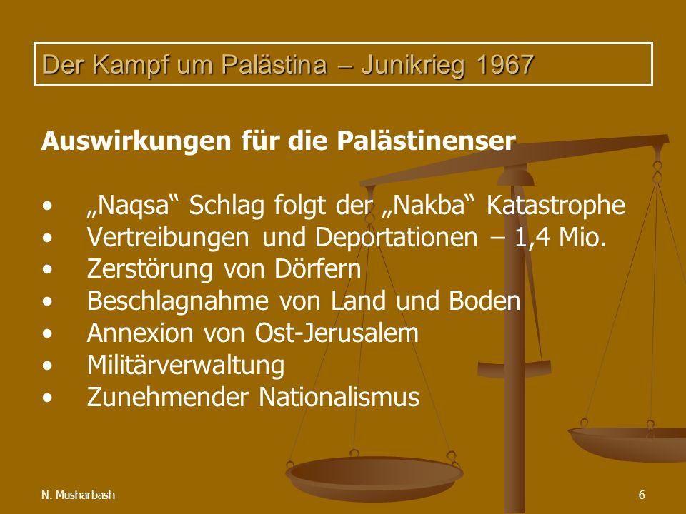 Der Kampf um Palästina – Junikrieg 1967