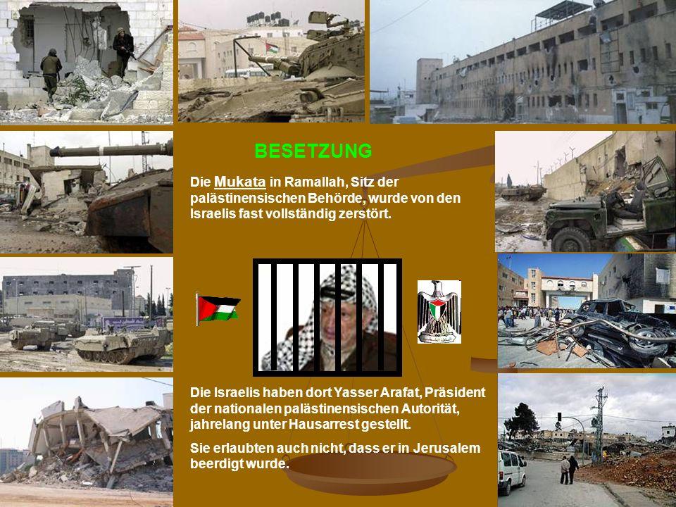 BESETZUNG Die Mukata in Ramallah, Sitz der palästinensischen Behörde, wurde von den Israelis fast vollständig zerstört.