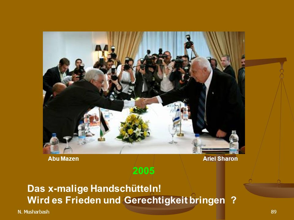 Abu Mazen Ariel Sharon. 2005.