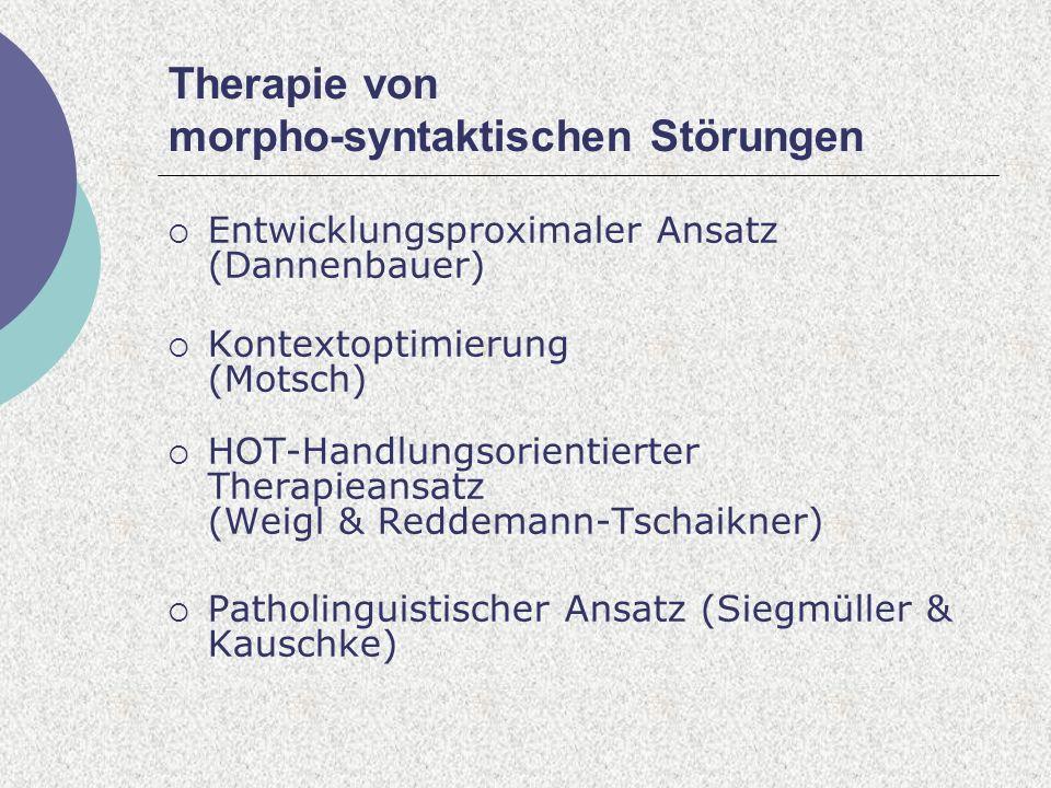 Therapie von morpho-syntaktischen Störungen